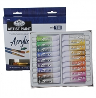 ACRYLIC SET ROYAL 18COL 12ML W/ BRUSHES ACR18