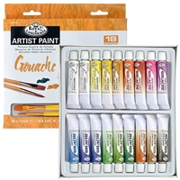GOUACHE SET ROYAL 18 12ML TUBES W/BRUSH GOU18