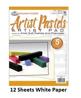 PASTEL PAD ROYAL 9X12 WHITE 12SH RD357