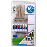 MINI ART ACRYLIC PAINTING 16PC SET RYRSET-MS101