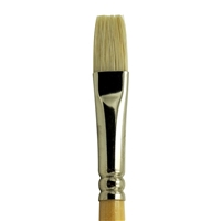BRUSH LONG HNDLE WHT BRISTLE FLAT 12 RYR333-12