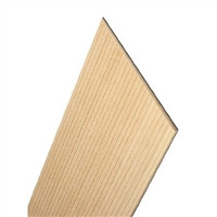 BASSWOOD FLOORING/SIDING 1/4 INCH SPACED GROOVE x 24 INCHES LONG MI4440