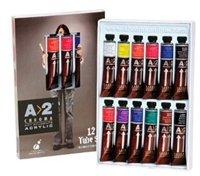 ACRYLIC SET A2 12X20ML TUBES 7491-DISC