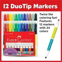 MARKER SET DUOTIP WASHABLE MARKERS 12CT FC153012