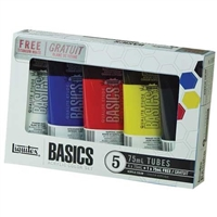 ACRYLIC SET LIQUITEX BASICS 5 COLOR SET LQ101082