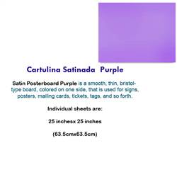 CARTULINA SATINADA PURPLE 10035