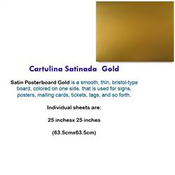 CARTULINA SATINADA GOLD 10038