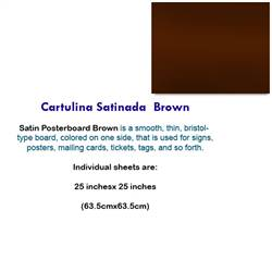 CARTULINA SATINADA BROWN 10039