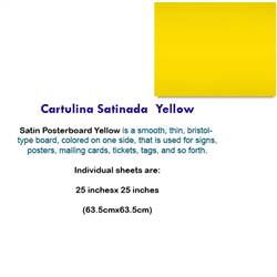 CARTULINA SATINADA YELLOW 10045