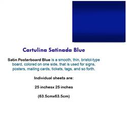 CARTULINA SATINADA BLUE 10046