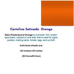 CARTULINA SATINADA ORANGE 10063