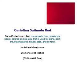 CARTULINA SATINADA RED 10074