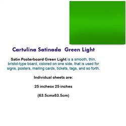 CARTULINA SATINADA GREEN LIGHT 10078