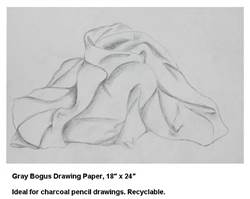 DRAWING PAPER BOGUS GRAY 18X24 SHEETS-250CT 104091