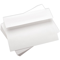 CARD ENVELOPE 5x7 inches WHITE 10PACK NON GUMMED 19785