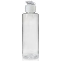 PLASTIC BOTTLE 250ml CLEAR  PET  FLIP24410