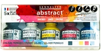 INK SET SENNELIER ABSTRACT PRIMARY - 30ML SET/5 SV13422000