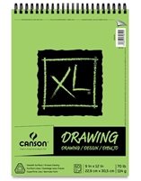 XL DRAWING PAD CANSON - 9X12  60SH WIRE BOUND CN100510936