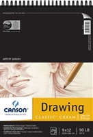 DRAWING PAD CLASSIC CREAM 24SH 9X12 CN100510973