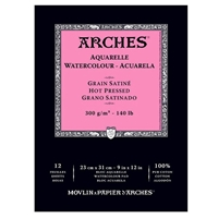 WC PAPER ARCHES PAD 140 LB HOT PRESS 9X12 inches AP1795097