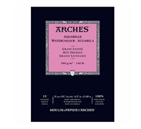 WC PAPER ARCHES PAD 140 LB HOT PRESS 11x16.5 inches AP1795099