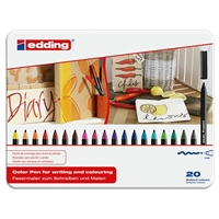 EDDING 1300 FIBER PEN SET 20 COLORS ED1300-20