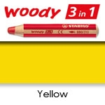 WATER SOLUBLE WAX PENCIL STABILO WOODY YELLOW SW880-205