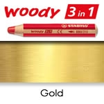 WATER SOLUBLE WAX PENCIL STABILO WOODY GOLD SW880-810