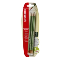 PENCIL STABILO GREEN 3PACK SWB-36606