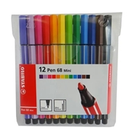 MARKER SET STABILO 68 MINI SET OF 12 SW668-12