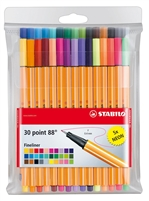 MARKER SET STABILO 88 30PC WALLET SW8830-1