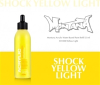 ACRYLIC MONTANA REFILL 25ML SHOCK YELLOW LIGHT MXA323522