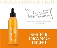 ACRYLIC MONTANA REFILL 25ML SHOCK ORANGE LIGHT MXA323546