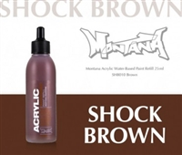 ACRYLIC MONTANA REFILL 25ML SHOCK BROWN MXA323690
