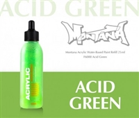 ACRYLIC MONTANA REFILL 25ML ACID GREEN MXA346446
