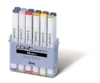 COPIC SKETCH MARKER SET - 12PC BASIC COLORS CMSB12