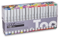 COPIC SKETCH MARKER SET - 72PC SET A CMS72A