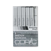 COPIC SKETCH MARKER SET - 6PC SKETCHING GRAYS CMSNGRAY