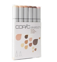 COPIC SKETCH MARKER SET - 6PC SKIN TONES CMSSKIN1