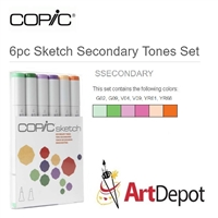 COPIC SKETCH MARKER SET - 6PC SECONDARY TONES CMSSECONDARY