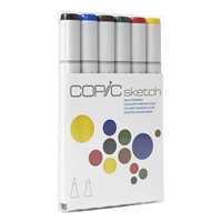 COPIC SKETCH MARKER SET - 6PC BOLD PRIMARIES CMSBOLDPRI
