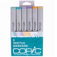 COPIC SKETCH MARKER SET - 6PC SET PALE PASTELS CMSPASTELS