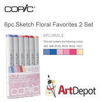 COPIC SKETCH MARKER SET - 6PC FLORAL FAVORITES CMSFLORAL2