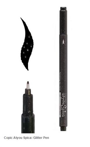 Copic Spica Glitter Pen 23 Pitch Black