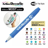 ARTLINE DECORITE 3.0 FLAT MARKER BLUE 6A