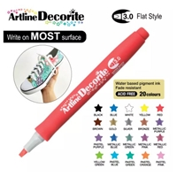 ARTLINE DECORITE 3.0 FLAT MARKER RED 6R