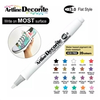 ARTLINE DECORITE 3.0 FLAT MARKER WHITE 6B