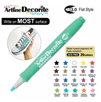 ARTLINE DECORITE 3.0 FLAT MARKER PASTEL GREEN 6V