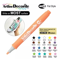 ARTLINE DECORITE 3.0 FLAT MARKER PASTEL ORANGE 6NA
