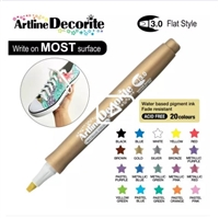 ARTLINE DECORITE 3.0 FLAT MARKER GOLD 6D